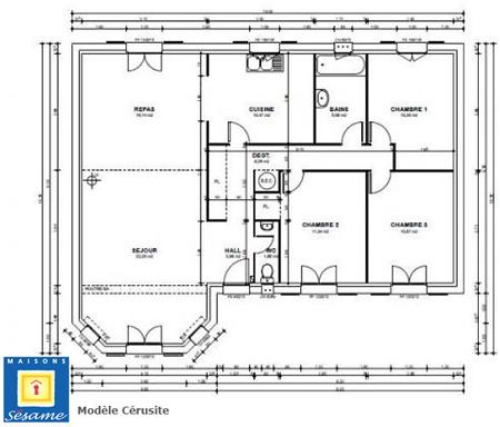 Faire construire dans les yvelines trois mod les de - Plan maison sans couloir ...