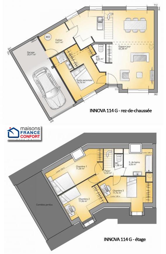 Super Faire construire une maison en V en Seine et Marne - Ma Future Maison TY78