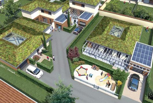 cest galement une belle maison avec de beaux volumes et de trs nombreuses ouvertures qui laissent entrer la lumire la chaleur et permettent une - Maison A Energie Positive Plan