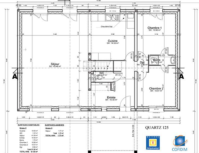 Faire construire une maison rt 2012 le mod le quartz de for Construire une maison individuelle rt 2012