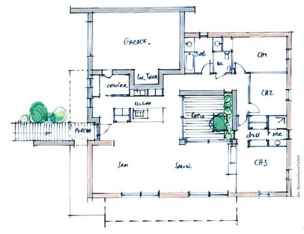 Le concept mfc 2020 maison voiture z ro nergie et z ro c02 ma future maison for Plan maison avec patio
