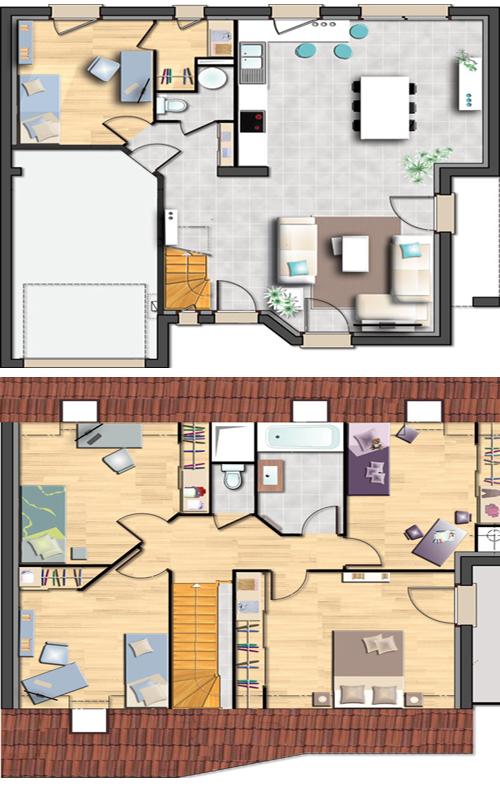 Modèles Cobalt et Lilas de Maison CASTOR | Ma Future Maison