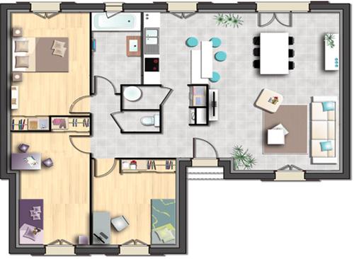 plan maison castor