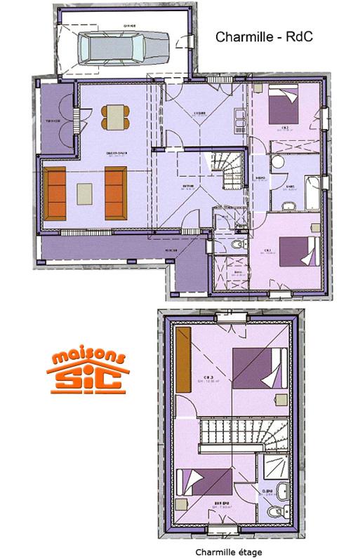 3 mod les de maisons tage en aquitaine ma future maison for Plan maison mca