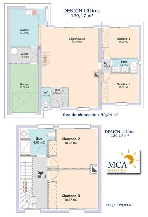 Exceptionnel 3 modèles de maisons à étage en Aquitaine | Ma Future Maison AA09