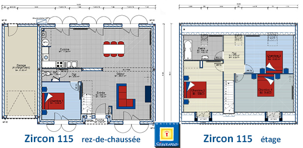 plan maison zircon