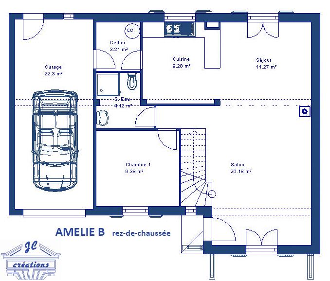 3 mod les de maisons en l faire construire en ile de france ma future maison. Black Bedroom Furniture Sets. Home Design Ideas