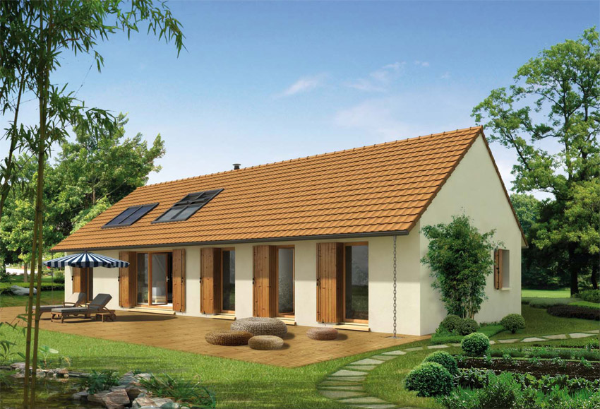 3 mod les de maisons de plain pied avec 3 chambres pour for Modele maison 3 chambres