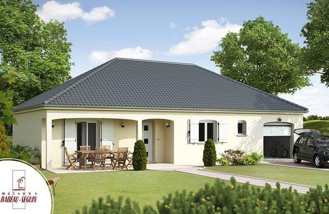 Mod le et plans meniliere du constructeur maisons babeau - Modele de maison a construire plain pied ...