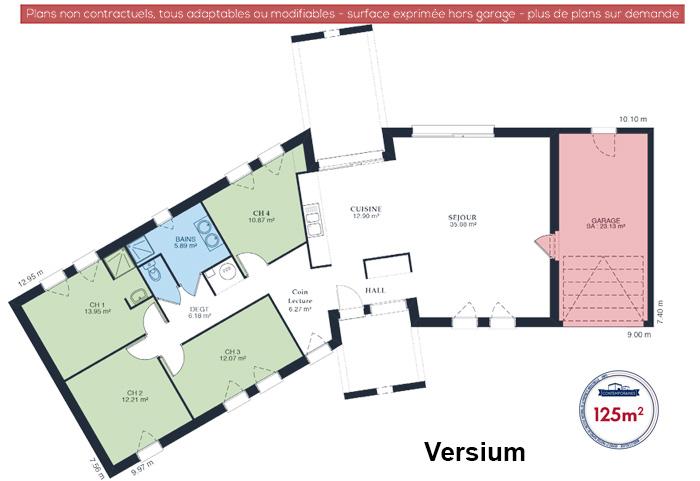 Mod le et plans versium du constructeur maisons babeau seguin for Plan maison babeau seguin