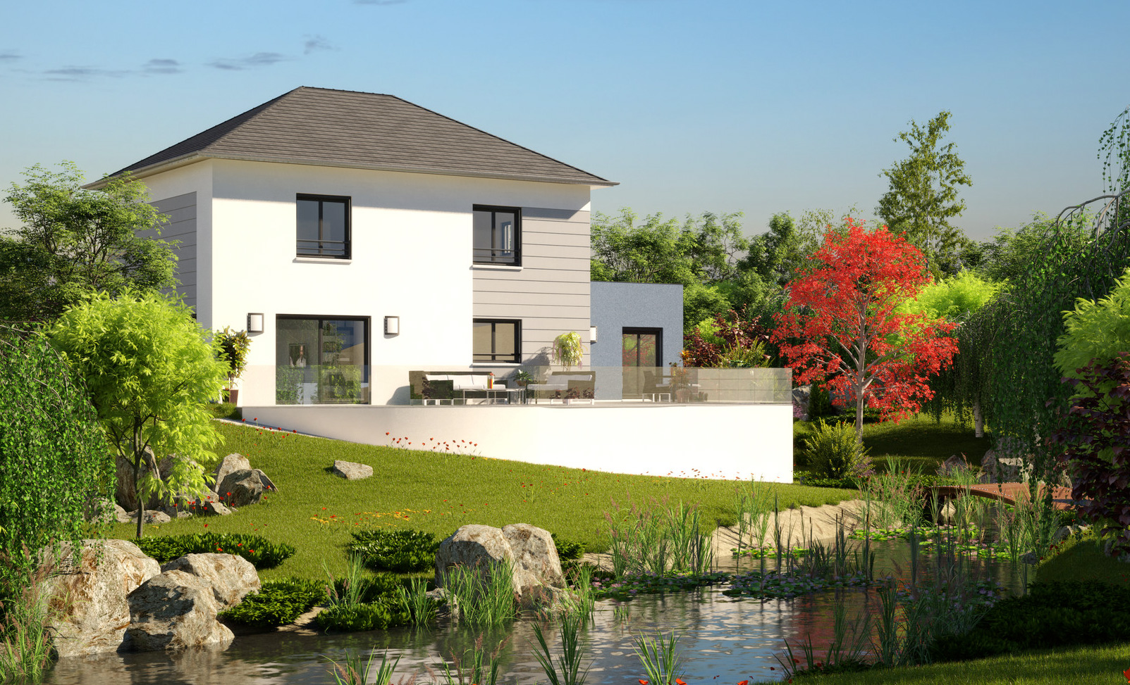 Mod le et plans madison du constructeur maisons barbey for Modele maison constructeur