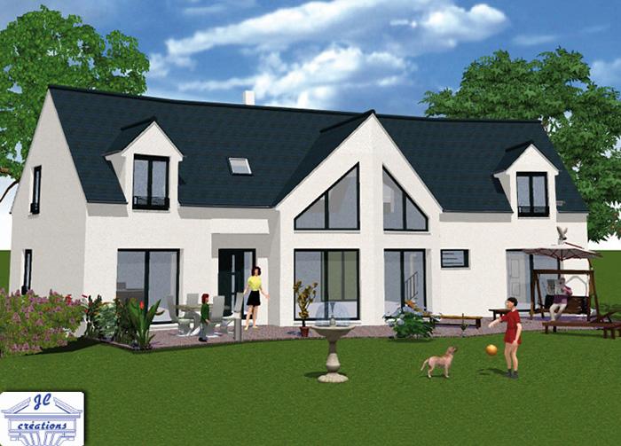 Jc creations constructeur de maison individuelle ma for Modele maison geoxia