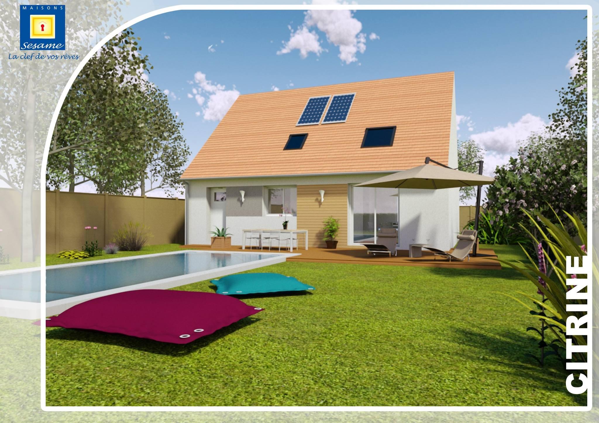 mod le et plans citrine du constructeur maisons sesame. Black Bedroom Furniture Sets. Home Design Ideas