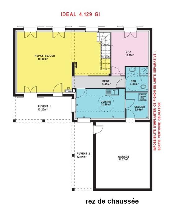 Modèle et plans: Idéal du constructeur Maisons Pierre