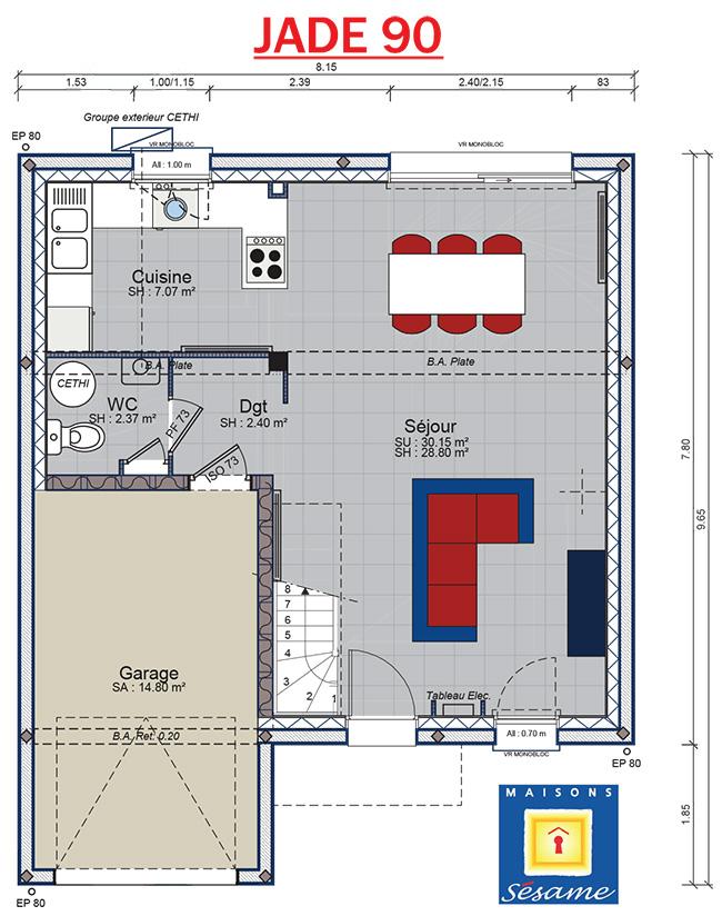 plan maison sesame