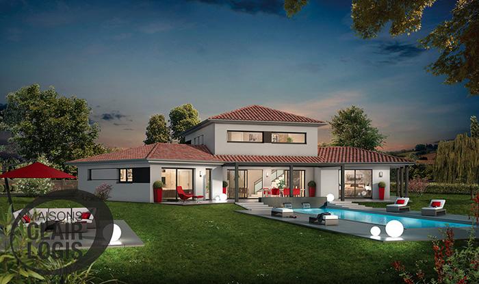mod le et plans ambre du constructeur maisons clair logis. Black Bedroom Furniture Sets. Home Design Ideas