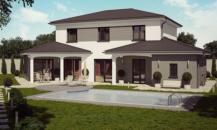 Mod le et plans barbade du constructeur demeures caladoises for Maison 130m2