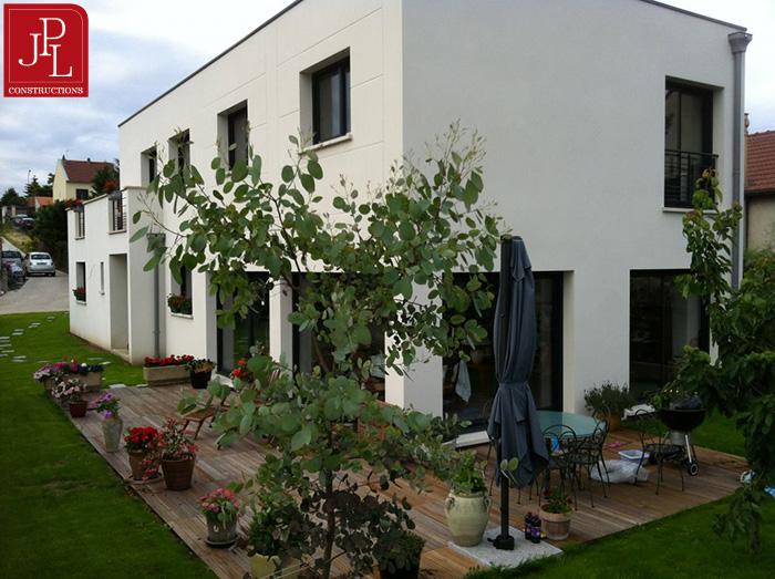 Mod le et plans jpl toit terrasse du constructeur jpl for Modele maison toit terrasse