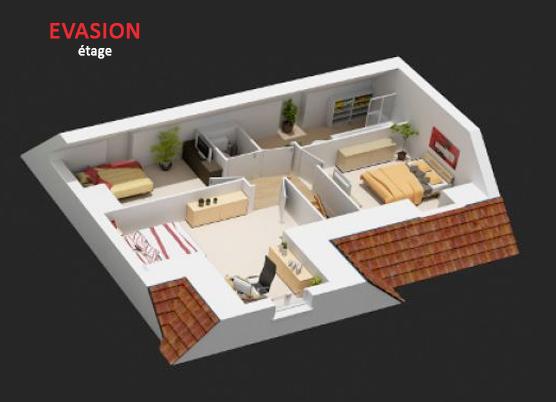 mod le et plans evasion gi du constructeur maisons. Black Bedroom Furniture Sets. Home Design Ideas