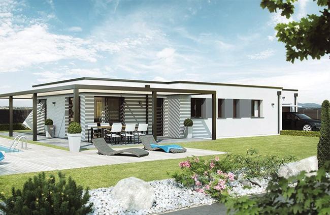 Mod le et plans pergolair du constructeur maisons babeau for Modele maison babeau seguin