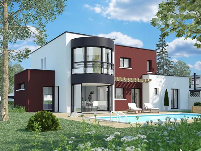 Mod le et plans borelly lumic ne du constructeur terre et demeure - Modeles de maisons a construire ...