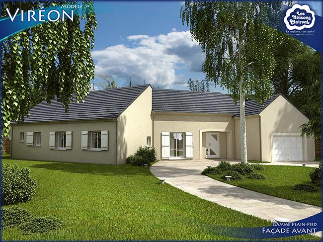 Perfect grande maison familiale de plainpied avec chambres for Modele maison familiale