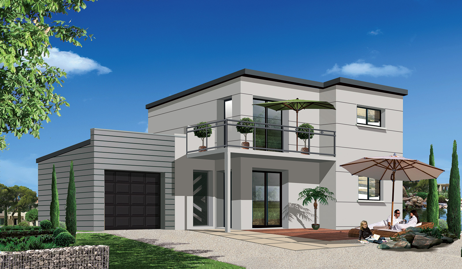Ma future maison mod le de maison terrain vendre for Construction maison 3d