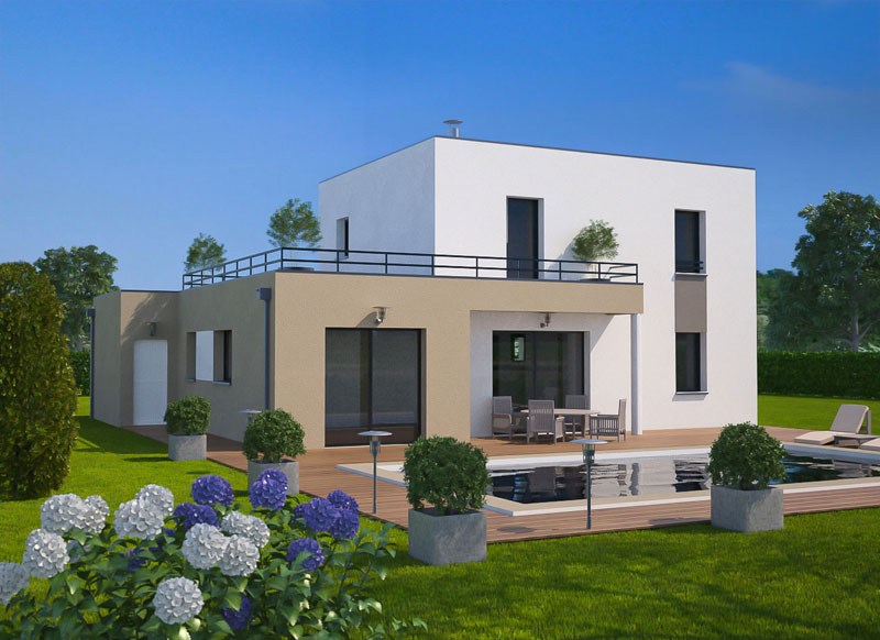Ma future maison mod le de maison terrain vendre for Construction maison contemporaine oise